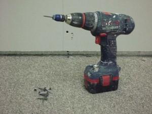 Dimple attachment for screw gun